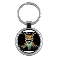 tiger Key Chain (Round)