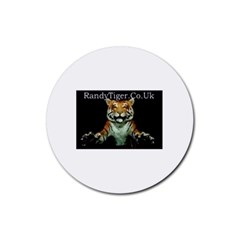 tiger Drink Coasters 4 Pack (Round)