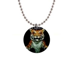 Tiger Button Necklace