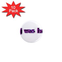 Weewee 1  Mini Button Magnet (10 Pack)