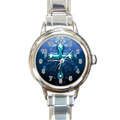 Glossy Blue Cross Live Wp 1 2 S 307x512 Round Italian Charm Watch