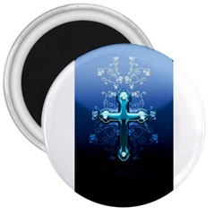 Glossy Blue Cross Live Wp 1 2 S 307x512 3  Button Magnet