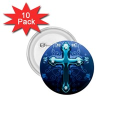 Glossy Blue Cross Live Wp 1 2 S 307x512 1.75  Button (10 pack)