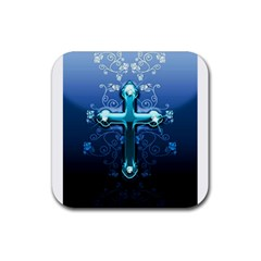 Glossy Blue Cross Live Wp 1 2 S 307x512 Drink Coaster (Square)