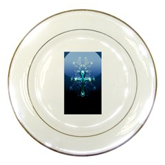Glossy Blue Cross Live Wp 1 2 S 307x512 Porcelain Display Plate