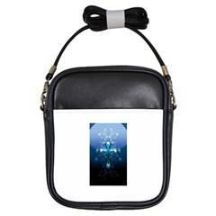 Glossy Blue Cross Live Wp 1 2 S 307x512 Girl s Sling Bag