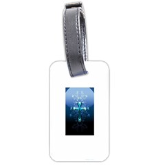 Glossy Blue Cross Live Wp 1 2 S 307x512 Luggage Tag (one Side)
