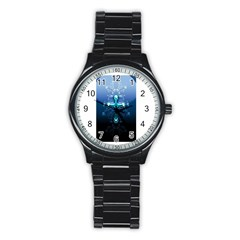 Glossy Blue Cross Live Wp 1 2 S 307x512 Sport Metal Watch (black)