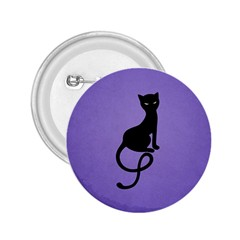 Purple Gracious Evil Black Cat 2.25  Button