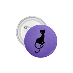 Purple Gracious Evil Black Cat 1.75  Button