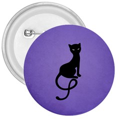 Purple Gracious Evil Black Cat 3  Button