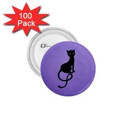 Purple Gracious Evil Black Cat 1.75  Button (100 pack)