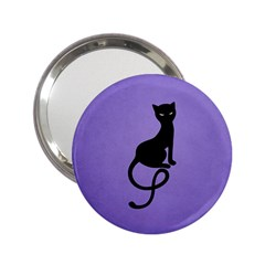 Purple Gracious Evil Black Cat Handbag Mirror (2.25 )