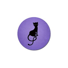 Purple Gracious Evil Black Cat Golf Ball Marker