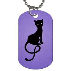 Purple Gracious Evil Black Cat Dog Tag (Two-sided)