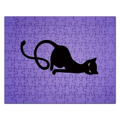 Purple Gracious Evil Black Cat Jigsaw Puzzle (Rectangle)
