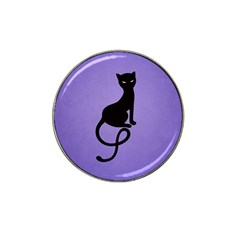 Purple Gracious Evil Black Cat Golf Ball Marker 4 Pack (for Hat Clip)