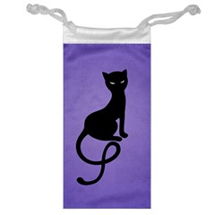Purple Gracious Evil Black Cat Jewelry Bag
