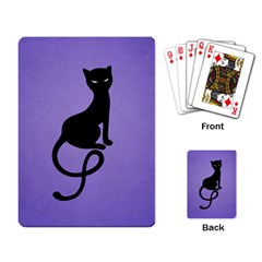 Purple Gracious Evil Black Cat Playing Cards Single Design