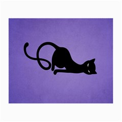 Purple Gracious Evil Black Cat Glasses Cloth (Small, Two Sided)
