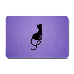 Purple Gracious Evil Black Cat Small Door Mat