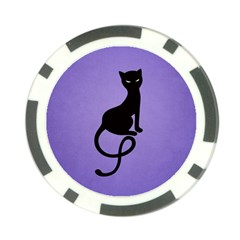 Purple Gracious Evil Black Cat Poker Chip