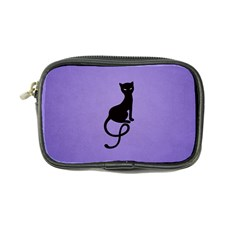Purple Gracious Evil Black Cat Coin Purse