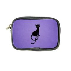 Purple Gracious Evil Black Cat Coin Purse