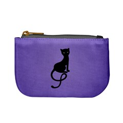 Purple Gracious Evil Black Cat Coin Change Purse