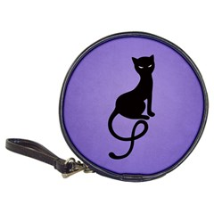 Purple Gracious Evil Black Cat CD Wallet