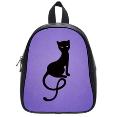 Purple Gracious Evil Black Cat School Bag (Small)