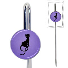 Purple Gracious Evil Black Cat Bookmark