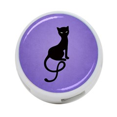 Purple Gracious Evil Black Cat 4 Port Usb Hub (two Sides)