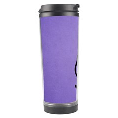 Purple Gracious Evil Black Cat Travel Tumbler