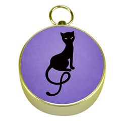 Purple Gracious Evil Black Cat Gold Compass