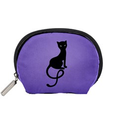 Purple Gracious Evil Black Cat Accessories Pouch (small)