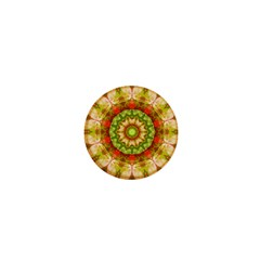 Red Green Apples Mandala 1  Mini Button