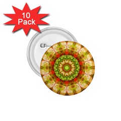 Red Green Apples Mandala 1.75  Button (10 pack)