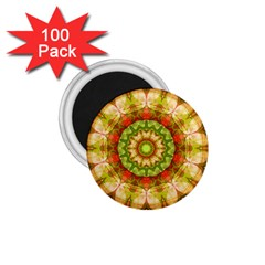 Red Green Apples Mandala 1.75  Button Magnet (100 pack)