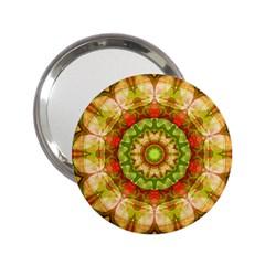 Red Green Apples Mandala Handbag Mirror (2.25 )