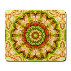 Red Green Apples Mandala Large Mouse Pad (rectangle)
