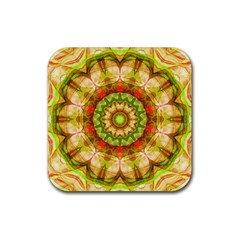 Red Green Apples Mandala Drink Coaster (Square)