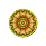 Red Green Apples Mandala Drink Coaster (Round) Front