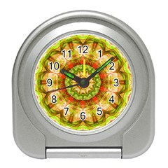 Red Green Apples Mandala Desk Alarm Clock