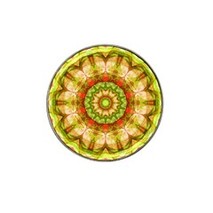 Red Green Apples Mandala Golf Ball Marker (for Hat Clip)