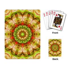 Red Green Apples Mandala Playing Cards Single Design