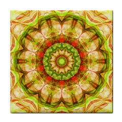 Red Green Apples Mandala Face Towel