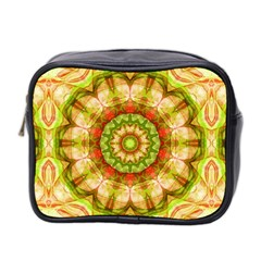 Red Green Apples Mandala Mini Travel Toiletry Bag (two Sides)