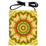 Red Green Apples Mandala Shoulder Sling Bag Front