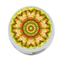 Red Green Apples Mandala 4-Port USB Hub (One Side)